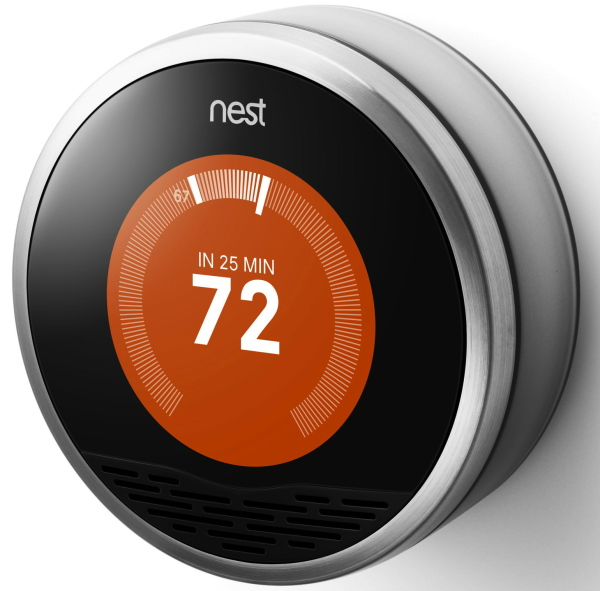 Google adds voice control to the nest smart thermostat - Nest thermostat stylish home temperature control ...